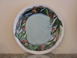 China painted porcelain plte